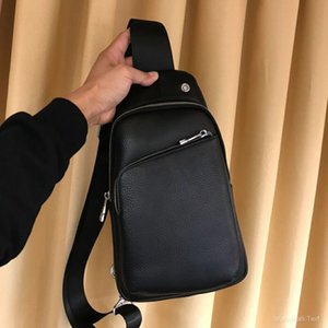 Cross Body Waist Shoulder Men Casual Leather Chest Bags Shoulder Bag Business Vintage Zipper Phone Pockets Bag Sports Men Bag Black Type6