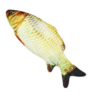 Моделирование электрические рыбы зарядные плюшевые домашние животные игрушки дразнить кошачьему кукла электронный коммутатор красочные Cattoy дайвинг рыб Горячие продажи высокий Quali 10 5yy M2