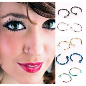Body Fashion Jewelry Stainless Steel Hoop Ring Earring Studs Fake Nose Non Piercing Rings Party Favor