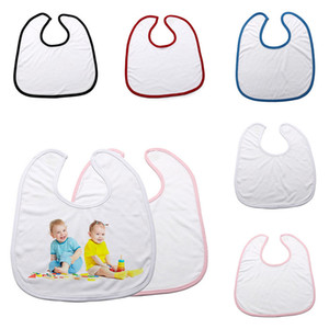 5 Colors Baby DIY Bib Cartoon Newborn Apron Ins Towel Blank Sublimation Thermal Transfer Machine Burp Cloth Feeding Novelty Bib Necklace