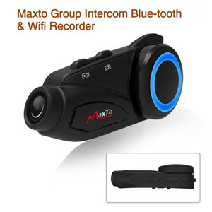 Intercomunicador de motocicletas Compras gratuitas Casco impermeable Grupo 6 Jinetes con Sony FHD 1080P DVR Bluetooth WiFi Motorbike Interphone1