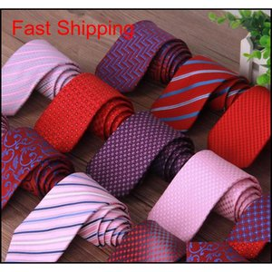 New Fashion Business Suit Necktie Stripe Pattern Ties Wedding Groom Tie For Men Gift Drop Shipping L7Fhn