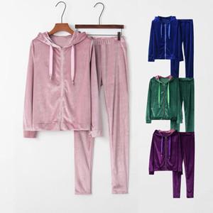Pigiama femminile Set calda flanella Pigiama Pigiama Sleepwear Homewear Inverno Inverno Velvet femminile Peluche Pigiama Suit Suit Felpa con cappuccio