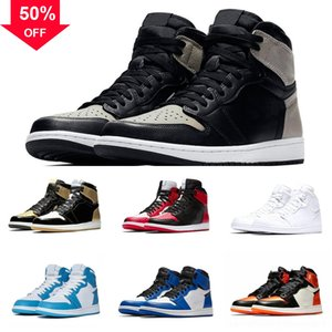 New jumpman 23 Jumpman GS Playground Arrival 1 man basketball 1S shoe Black White Chicago Blue OG Red Women Sports basketball Men airjumpjor
