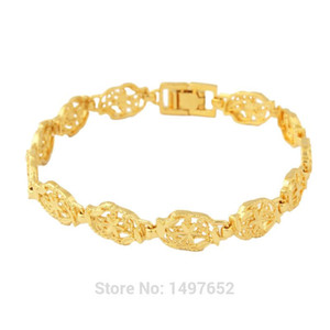 Mens Womens Bracelets12mm Gold Filled PlatedExquisite pattern Bracelets Bangles Fashion Jewelry