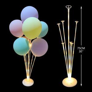 7 Tube Birthday Party Balloon Stand Balloon Holder Column Garland Chain Birthday Wedding Party Decoration Balloons Pump Supplies