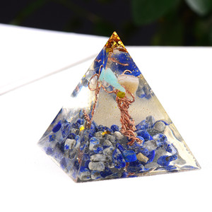 Pyramid Orgonite Silicone Mould DIY Resin Decor Craft Jewelry Making Mold Natural Crystal Gravel Reiki Pyramid Chakra Multiplier Y0107