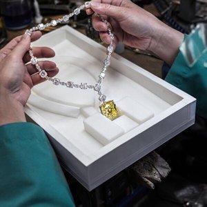 Taşlı Pendientes mujer moda S-0001 0927 Hibride Marka Tasarım Düğün kolye İçin Kadınlar Gelin Takı Sarı Taş Tam