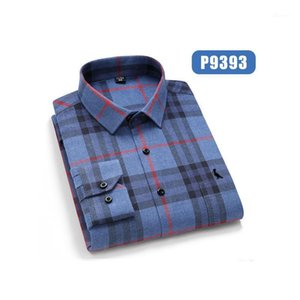 Reserva Aramy Camisa Social Masculina Manta Casual Xadrez Camiseta Confortável Moda Macio Modelo Regular Fit Glowed Top Quality1
