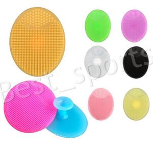Мягкая поверхность щетки для лица отшелушивающий Кисть силиконовая Cleaning Pad мытья лица отшелушивающий для лица Кисть SPA Skin Scrub Cleanser Tool YYA543
