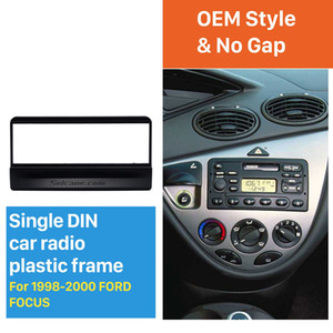 OEM style 1Din Car Radio DVD Stereo Fascia for 1998 1999 2000 Ford Focus Frame Panel Install In Dash Mount Kit no gap