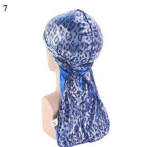 Men Silky Durags Bandanas Turban Cap Women Fashion Long Tail Du-rag Wigs Doo Laser Biker Headwrap Headwear Hair Accessories sqcNqn