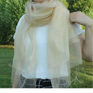 Pure Color Silk Scarf Ladies Spring Autumn New Elegant Double Deck 65-195cm Temperament All-match Evening Dress Shaw bbybyW
