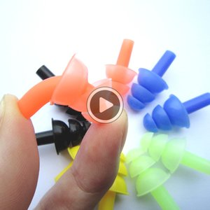 Z76L New 7 Farben sile Farben Soft-Sile Schwimmen Set Wasserdicht-Nasen-Klipp + Ohr-Stecker Earplug Nützliche