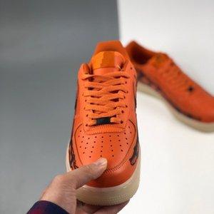 Neue 1 Skeleton Brilliant Orange Frauen Schuhe CSPACE Halloween Bones Limited Cactus Jack Designer Sneakers Männer Sport Schuhe