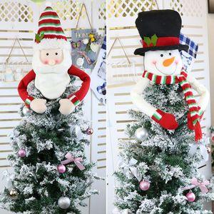 Ornamento grande del árbol de navidad Decoración de Santa muñeco de nieve de Navidad del reno de Hugger de vacaciones Winter Party Supplies AHE1257