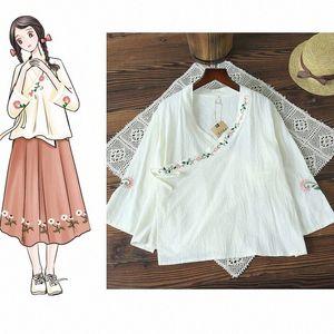 2019 estate di usura vestito delle donne di nuovo stile in stile cinese originale di design nazione ricamato ricamo migliorata cinese Abbigliamento QoYt #