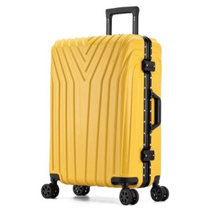 New Aluminum Frame Rolling Luggage Women Travel Bag Trolley Suitcase Carry On Luggage LJ201118