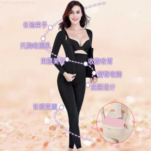 Spring and autumn after off style long sleeve trousers one-piece body shaping clothes for women after childbirth