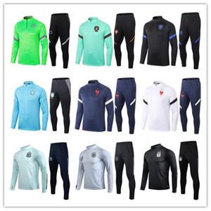 20 21 Мужчины Cousssit Франция Национальная команда Футбол Тренировка Костюм Выжитие 2020 2021 Испания Аргентина Уэльс Футбольная куртка Безвозмездная Чандал