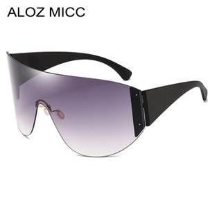 ALOZ MICC Ladies Big Frame Goggle Sunglasses Men Women Brand Designer One piece Mask Sunshade Big Box Fashion Female Models A616