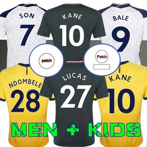 Мужчины + Kids Kit 20 21 Kane Son Bergwijn Ndombele Socceryseys 2020 2021 Tottenham Dele Jersey Футбол футболка Lo Celso Morgan Bale Lamela