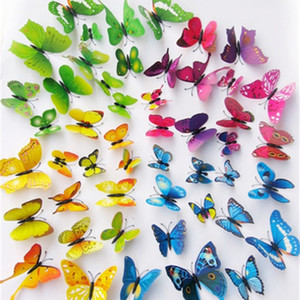 3D Butterfly Wall Stickers 12PCS Decals Decor For Fridge Kitchen Living Room Home Decoration EEA384