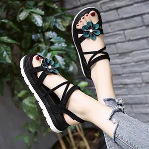2020 Women Sandals Summer Open Toe Platform Slide Ladies Fashion Hollow Light Slip On Sandals Woman Shoes M1248