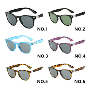 للجنسين الكلاسيكية خمر جولة مصمم النظارات الشمسية الرجال النساء النظارات الزجاج عدسات النظارات occhiali دا الوحيد 2180