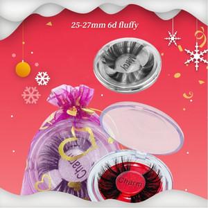 Wholesale False Eyelashes 25mm 5D Faux Mink Eyelashes Bulk Full Strip Lashes Thick Long Mink Eyelashes with Crystal Box