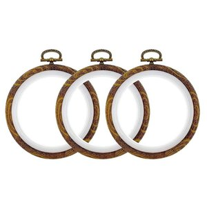 3 Pcs 4 inch Embroidery Ring Cross Stitch Set Display Frame Circle Embroidery Kits for Art Craft Sewing and Hanging
