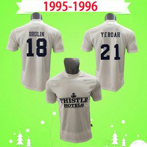 Leeds united 1995 1996 Leeds Fussball Jersey Retro Vintage Classic Football Hemd 95 96 Home Weiße Leed # 10 McAllister # 11 Geschwindigkeit # 18 Brolin # 21 Yeboah