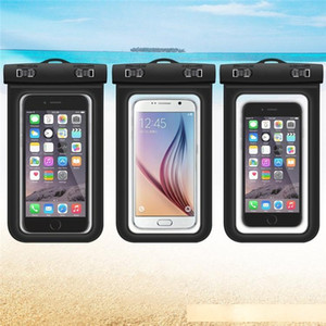 Transparent PVC Waterproof Mobile Phone Case Pouch Touch Screen Underwater Swimming Dry Bag for Huawei P10 P9 Lite Mate 9