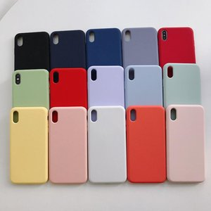 Sile Solid Color Phone Case For One Plus 8 7 6 Pro Soft Cover Candy Color For Oneplus 6t 7t Pro Q bbySev
