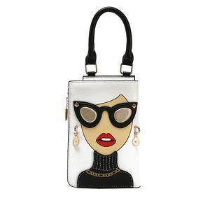 Fashion Women Personality Handbag New Shoulder Messenger Bags Glasses Girl Rivet Crossbody Trend Tote Cartoon 2021 Hot Sale Wholesale