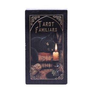 Em armazém Familiares Cartas de Tarô animal Magia Adivinhação Card Full Inglês Com Pdf Guia Game Portable Board Jogar Poker bbyvsP