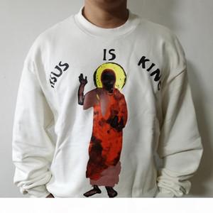 كاين غرب يسوع هو الملك البلوز ماركة رجل مصمم هوديي الأزياء عارضة crewneck البلوز للرجال النساء زوجين الهيب هوب الشوارع