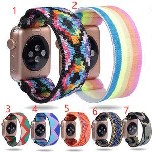 Elastik Watch Band Apple Watch Band için 5 6 4 Scrunchie Band 38mm 40mm 42mm 44mm Casual Kadınlar Kayış Bilezik IWatch Bantları Serisi 6 5 4