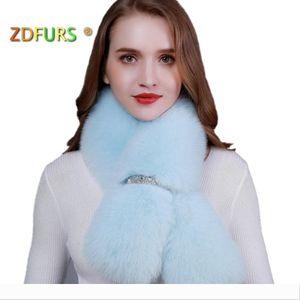 Designer ZDFURS *new winter real shawl fashion long scarf female fox ring coat decoration fur coll