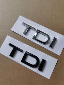 1x Krom Glossy Siyah ABS TDI Araba Arka Amblem Sticker Audi A1 A3 A4 A5 A6 A6L A7 A8 S3 S6 Q3 Q5 Q7 TT S RS