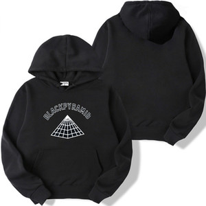 Autumn Black Pyramid winter sign of light alphabet clothing for a couple of boys male men and womenautumn hoodie Y201006