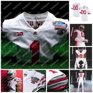2020 Ohio State Buckeyes Şeker Bowl Jersey Justin Alanları J.P. Andrade Danny Vanatsky Gunnar Hoak Jagger Laroe NCAA Koleji Futbol Forması