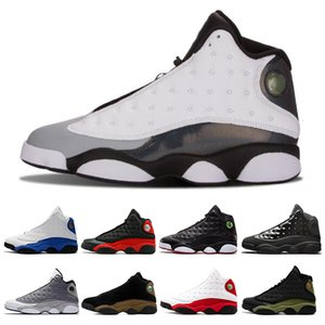 Fashion Island Green 13 13s men basketball shoes Court Purple Lucky Green Dirty Bred sports sneakers shoes size 7-13