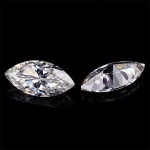 Très Excellente Brilliant Cut Marquise 3 * 1 * 3 0,5 -7 .5mm grand feu E -F couleur à haute teneur Moissanite pierres précieuses synthétiques en vrac diamant pour Je