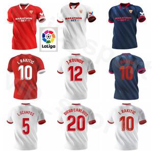 20 21 FC Sevilla Maillot 5 OCAMPOS 10 Ever Banega 15 FR-NESYRI 16 NAVAS DE JONG EL HADDADI Reguilón football Kits chemise