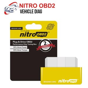Single PCB EcoOBD2 & Nitro OBD2 Gasoline Plug & Drive For Benzine Eco OBD2 ECU Chip Tuning Box 15% Fuel Saving More Power
