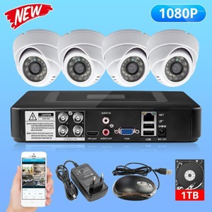 FUERS 2MP 4CH AHD DVR CCTV Camera Surveillance Security System Indoor 3000TVL Dome Camera Video Night Vision P2P 24pcs LED 1080P1