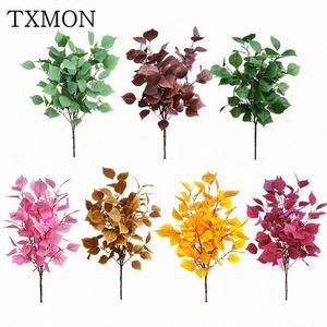Özelleştirilmiş simülasyon yaprak Bodhi yaprak Ev bahçe dekorasyon düğün çiçek aranjman sahne dekorasyon süsleri sahte bitki vFXj #
