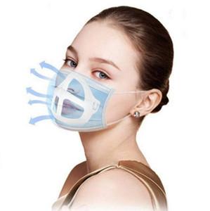 Masque jetable 3D Support Protection Rouge à lèvres Support Masque de soutien interne pour respirer librement Masques visage porte-outil accessoires DBC BH4191