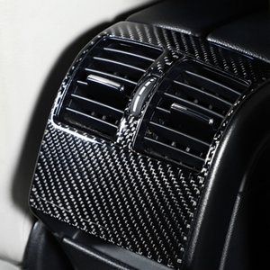 For Mercedes W204 C Class Car Interior Moulding Carbon Fiber Rear Air Condition Vent Cover Trim Air Outlet Decor Stickers